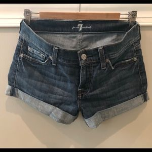 7 for all mankind denim shorts, Size 26